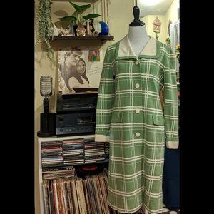 Vintage 60s Mod Window Pane Coat
